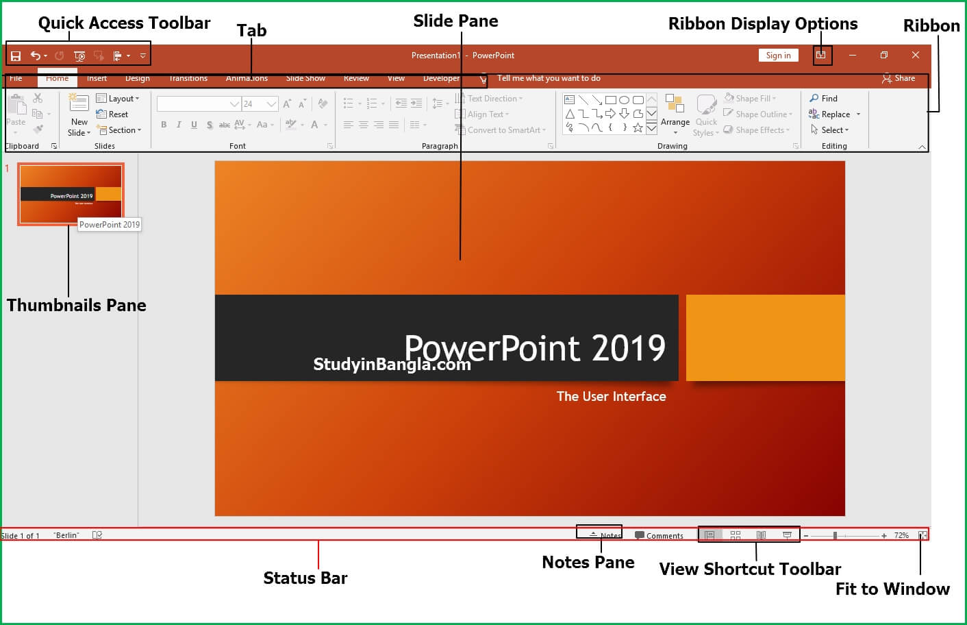 powerpoint-2019-user-intreface